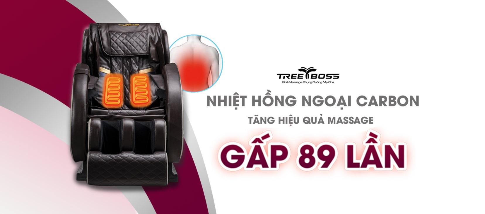 ghế massage hồng ngoại 4d