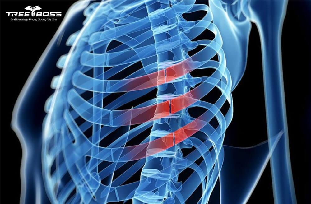 đau sau lưng bên trái dưới bả vai