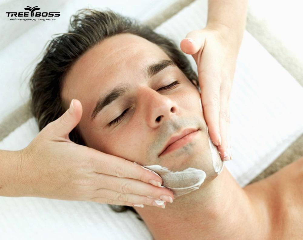 cách massage mặt cho nam
